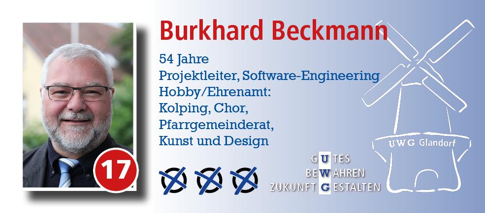 Burkhard Beckmann für den Gemeinderat Glandorf wählen